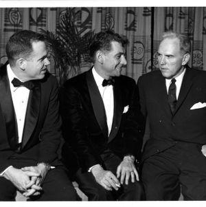 William Joslin, Leonard Bernstein, and John T. Caldwell at Friends of the College Concert Series