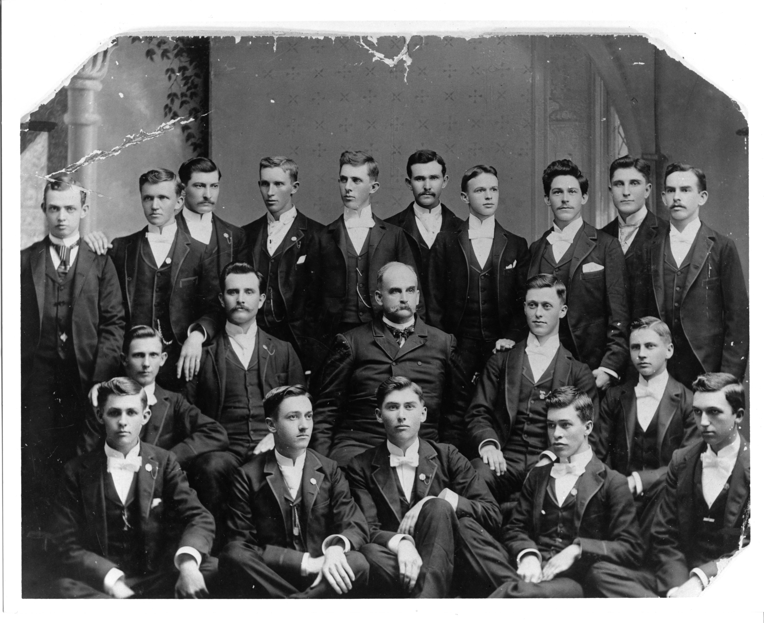 President Alexander Q. Holladay and the first graduating class