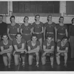 North Carolina State College basketball team, 1944-1945.