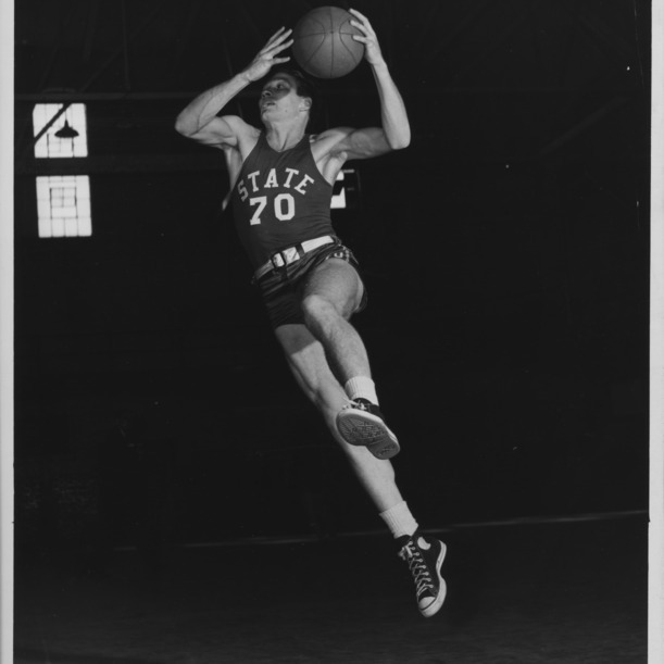 North Carolina State College all-American basketball player Dick Dickey.