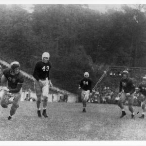 "Cathey's famous ""quarterback sneak"" scores against North Carolina."