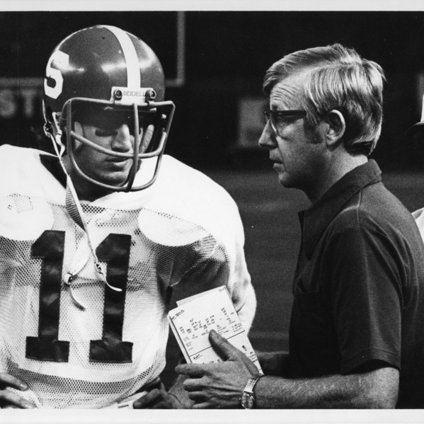 Dave Buckey and Lou Holtz, N. C. State.
