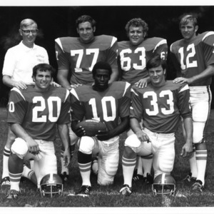 1972 Atlantic Coast Conference [football] Coach of the Year Lou Holtz of North Carolina State and six returning all-ACC performers.