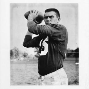North Carolina State College two-time all-American quarterback Roman Gabriel.