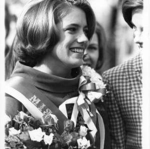 Janet McAllister, homecoming queen, 1967