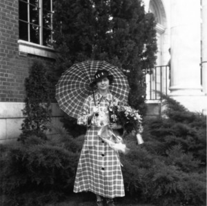 Meredith College student Elizabeth Lewis, grand prize winner of the 1934 North Carolina State College Style Show
