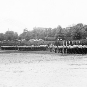NC State ROTC cadets marching in formation