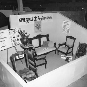 "Home Demonstration Club's ""Give Your Old Furniture a New Look"" exhibit at NC State Fair"