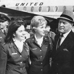 NC State Angel Flight members greeting Bob Hope