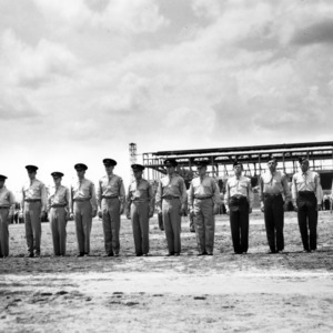 Cadets stand at attention