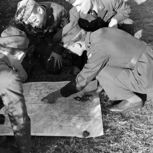 NC State ROTC cadets map reading