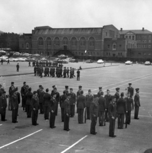 Air Force ROTC cadets standing in formation