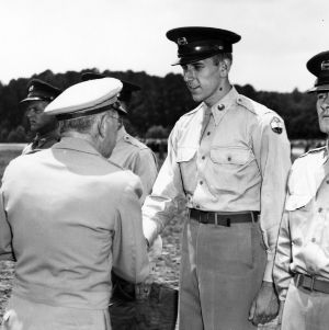 Samuel A. Gibson greeting cadets
