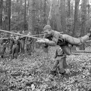 NC State ROTC cadets rope training