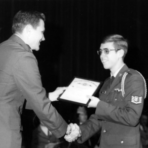 Cadet winning the Reserve Officer Association Award
