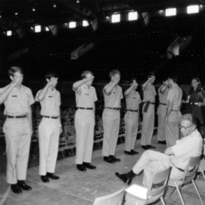 Cadets salute superior officer