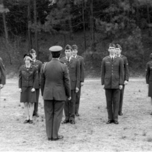 NC State ROTC cadets standing in formation