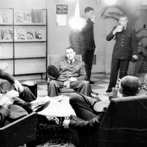 Cadets relaxing in the lounge
