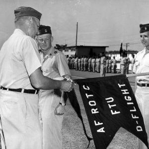 Air Force ROTC training at Richards-Gerbaur Air Force Base