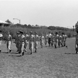 Air Force RTOC cadets marching in formation