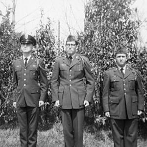 Cadets posing for camera