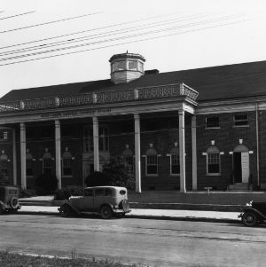 Wayne County community building which housed a club market, 1936