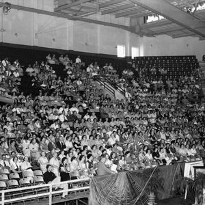 Farm and Home Week event in gymnasium, 1952
