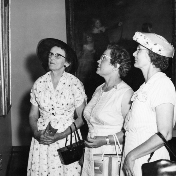 1957 Farm Home Week, tour of N.C. Museum of Art, Pauline E. Gordon, in charge