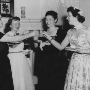 Women making a toast