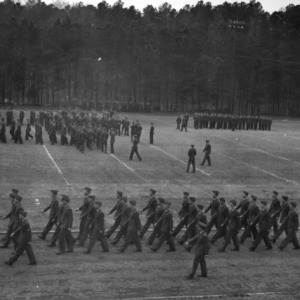 NC State ROTC in marching formation