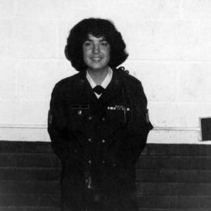 Female cadet posing for the camera