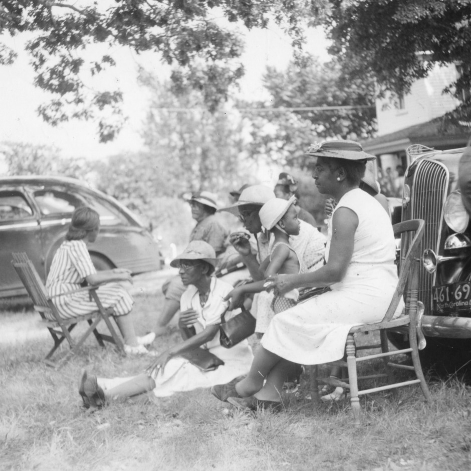 Group of ladies at county picnic