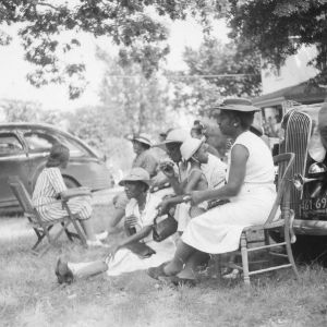 Group of ladies at county picnic sponsored by Negro Cooperative Extension, 1941