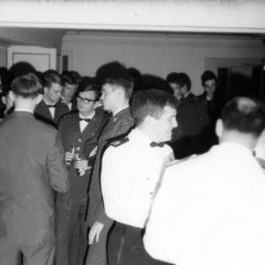 Officers and cadets mingle at a mixer