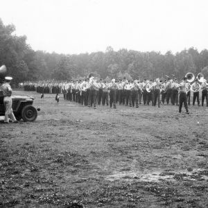 NC State Air Force military band on the march