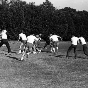 Cadets playing football
