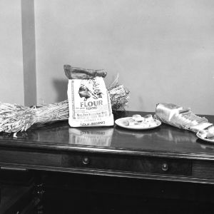 A display associated with the enrichment of flour program, probably 1950s