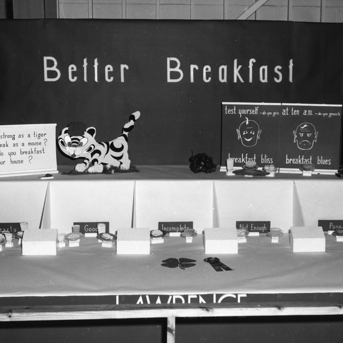 Exhibit booth at Alabama State Fair, 1954