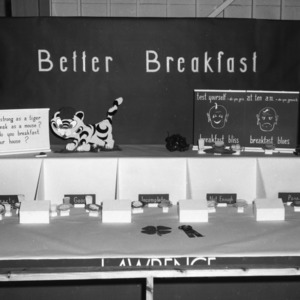 Exhibit booth at Alabama State Fair, 1954