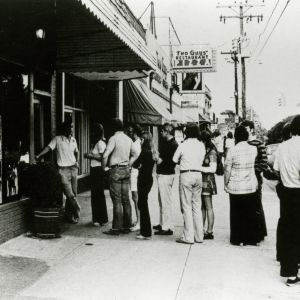 Line in front of Brother's Pizza Palace on Hillsborough Street