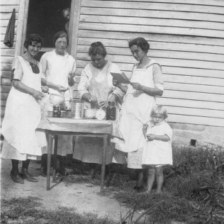 A group of Little River, Transylvania County women working for certificates in Food Preservation