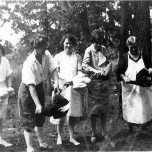 Cook's aides at Robeson County Women's Camp