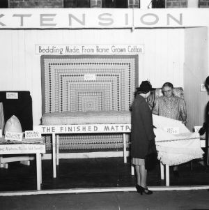 Cotton mattress display at 1940 NC State Fair