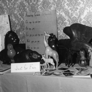 "Display at the North Carolina State 4-H Council meeting of 1973 held at the Blockade Runner in Wilmington, North Carolina, labled ""Just for Fun"""