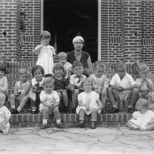 Children participating in a Pamlico County health contest in 1934