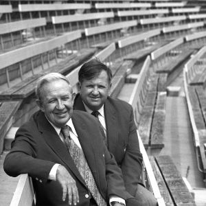 Bill Jackson and Wally Ausley in stadium