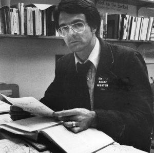 Professor Randy Hester at desk