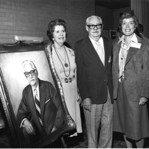 Dedication of portrait of Malcolm E. Campbell