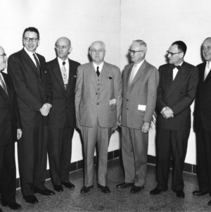 Dedication of Broughton Engineering Laboratories on the campus of North Carolina State College