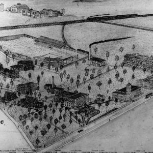 Bird's-eye view of North Carolina College of Agriculture and Mechanic Arts, January 1911